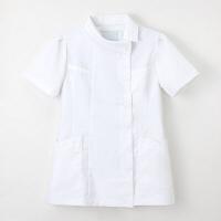 ナガイレーベン チュニック(ロールカラー) 医療白衣 半袖 ホワイト M FE-4522(取寄品)
