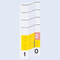 リヒトラブ カラーナンバー見出紙(ミドルデジット3桁)「001」~「200」 HK785-0 1箱(200枚入)