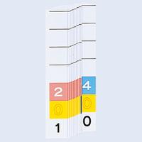 リヒトラブ カラーナンバー見出紙(ミドルデジット3桁)「201」~「400」 HK785-2 1箱(200枚入)