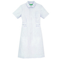 KAZEN ワンピース半袖 (ナースワンピース) 医療白衣 ホワイト LL 050-70 (直送品)