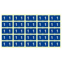 リヒトラブ カラーナンバーラベルM 「1」 HK7753-1 1袋(250片入)