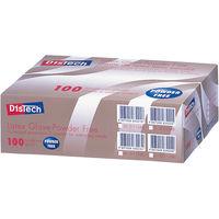 メディコムジャパン ディステック ラテックスグローブ パウダーフリー M D-1124C 1箱(100枚入) (使い捨て手袋)