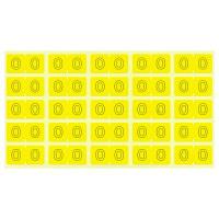 リヒトラブ カラーナンバーラベルM 「0」 HK7753-0 1袋(250片入)