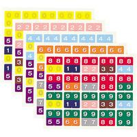リヒトラブ カラーナンバーラベルM 2桁用 「00」~「99」 HK752 1袋(100片入)