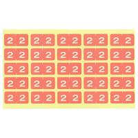 リヒトラブ カラーナンバーラベルM 「2」 HK7753-2 1袋(250片入)