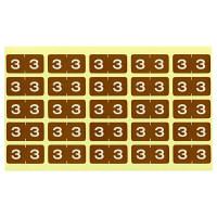 リヒトラブ カラーナンバーラベルM 「3」 HK7753-3 1袋(250片入)