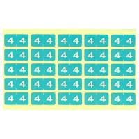 リヒトラブ カラーナンバーラベルM 「4」 HK7753-4 1袋(250片入)