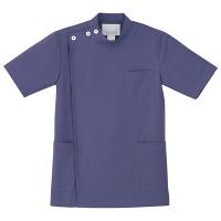 ナガイレーベン 男子横掛半袖 (医務衣 ケーシージャケット) 医療白衣 ネイビー M KES-5167