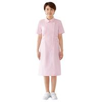 KAZEN ナースワンピース 半袖 ピンク S 270-73