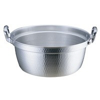 アルミDON打出円付鍋 42cm ガス火専用 AEV02042 アカオアルミ販売 (取寄品)