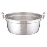 アルミDON打出円付鍋 45cm ガス火専用 AEV02045 アカオアルミ販売 (取寄品)