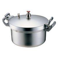 ホクア業務用アルミ圧力鍋 21l ガス火専用 AAT01021 北陸アルミニウム (取寄品)