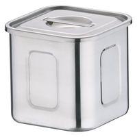 18-8深型角キッチンポット 9cm AKK06009 三宝産業 (取寄品)