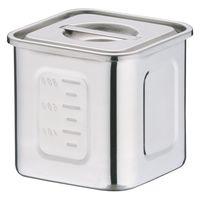18-8深型角キッチンポット 10.5cm AKK06010 三宝産業 (取寄品)
