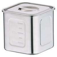 18-8深型角キッチンポット 12cm AKK06012 三宝産業 (取寄品)