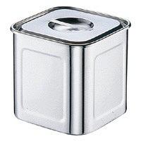 18-8深型角キッチンポット 13.5cm AKK06013 三宝産業 (取寄品)