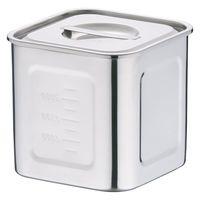 18-8深型角キッチンポット 15cm AKK06015 三宝産業 (取寄品)