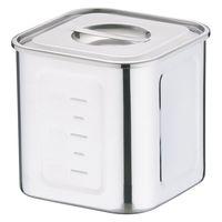 18-8深型角キッチンポット 16.5cm AKK06016 三宝産業 (取寄品)