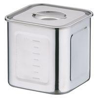 18-8深型角キッチンポット 18cm AKK06018 三宝産業 (取寄品)