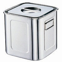18-8深型角キッチンポット 19.5cm AKK06019 三宝産業 (取寄品)