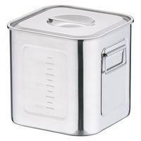 18-8深型角キッチンポット 21cm AKK06021 三宝産業 (取寄品)