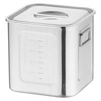 18-8深型角キッチンポット 24cm AKK06024 三宝産業 (取寄品)