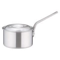 アルミDON片手深型鍋 18cm ガス火専用 AKT19018 アカオアルミ販売 (取寄品)