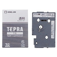 キングジム テプラ TR 6mm 透明ラベル(黒文字) 1個 TT6K (取寄品)