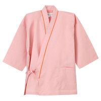 ナガイレーベン 患者衣 じんべい型 ピンクM SG1441 (取寄品)