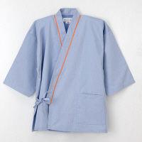 ナガイレーベン 患者衣 じんべい型 ブルーL SG1441 (取寄品)