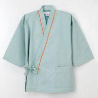 ナガイレーベン 患者衣 じんべい型 グリーンL SG1441 (取寄品)