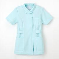 ナガイレーベン 女子チュニック ナースジャケット 医療白衣 半袖 ターキス L TS-2077 (取寄品)