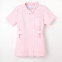 ナガイレーベン 女子チュニック ナースジャケット 医療白衣 半袖 ピンク S TS-2077 (取寄品)