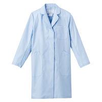 ナガイレーベン 女子シングル診察衣(ドクターコート ハーフ丈 シングル) EM3035 ブルー S (取寄品)