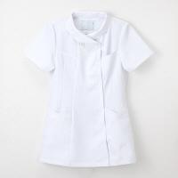 ナガイレーベン 女子上衣 半袖 ホワイト M FY-4582 (取寄品)
