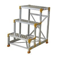 PiCa Corp(ピカコーポレイション) 踏台 踏面縞板タイプ作業台 3段 90cm FG-369CP 1台 (直送品)