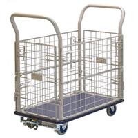 金沢車輌 スチール網台車 フットブレーキ付 150kg荷重 NHT-107+FB 1台 (直送品)