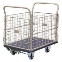 金沢車輌 スチール網台車 フットブレーキ付 300kg荷重 NHT-307+FB 1台 (直送品)