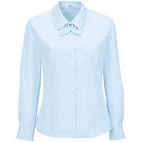BON(ボン) 事務服 小さいサイズ 長袖ドビーストライプブラウス ブルー 5号 HW4125A (直送品)