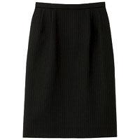 BON(ボン) 事務服 大きいサイズ マニッシュライン ストレッチタイトスカート ブラック×ブルー 17号 HW2240A (直送品)