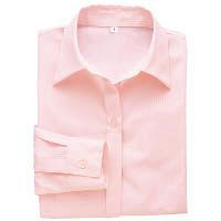 BON(ボン) 事務服 大きいサイズ 長袖開襟ブラウス ピンク 19号 HW4200A (直送品)