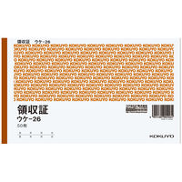 コクヨ 領収証B6ヨコ型ヨコ書 二色刷り ウケ-26 1冊