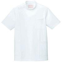 フォーク 男子医務衣(ケーシージャケット) 1010CR-1 ホワイト S (取寄品)