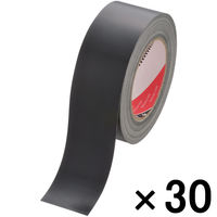 寺岡製作所 カラー布テープ カラーオリーブテープ No.145 0.31mm厚 黒 幅50mm×長さ25m巻 1箱(30巻入)