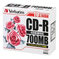 PCデータ用CD-R 700MB SR80PP10 1箱(100枚:10枚入×10パック) 三菱化学メディア