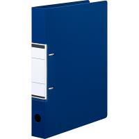 リングファイル D型2穴 A4タテ 背幅41mm 10冊 アスクル ユーロスタイル ブルー