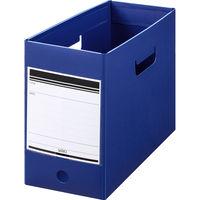 ボックスファイル組み立て式 A4ヨコワイド 5冊 PP製 ネイビー セリオ