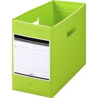 ボックスファイル組み立て式 A4ヨコワイド 5冊 PP製 グリーン セリオ