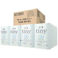 トイレットペーパー 6ロール×8パック 再生紙 シングル 150m 芯なし トーヨタイニー 1箱(48個:6個×8パック入) トーヨ