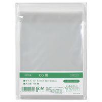 伊藤忠リーテイルリンク OPP袋(テープ付き) CDスリムケース用 横130×縦155+フタ40mm 透明封筒 1セット(500枚:100枚入×5袋)